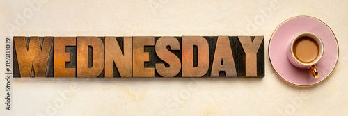 Wednesday word typography Canvas Print