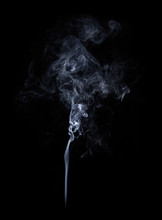 Photo Of Real White Smoke On Black Background