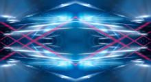 Dark Abstract Futuristic Neon ...