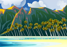 Tropical Beach Landscape With ...