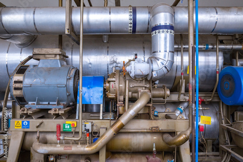The screw ammonia compressor are specifically engineered to deal with industrial refrigeration installations Wallpaper Mural