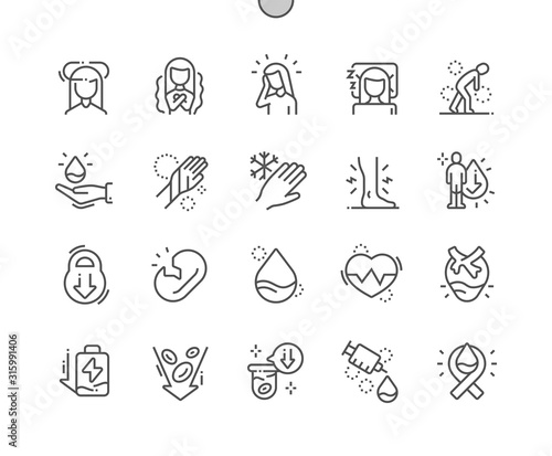 Anemia Well-crafted Pixel Perfect Vector Thin Line Icons 30 2x Grid for Web Graphics and Apps Canvas Print