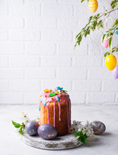Traditional Easter Cake With T...