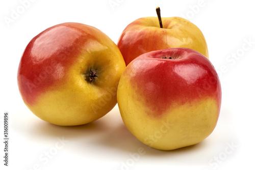 Photo Fresh ambrosia apples, isolated on white background