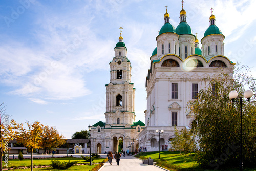 Uspensky Cathedral and Bell Tower of the Kremlin in Astrakhan, Russia Wallpaper Mural