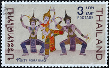 Traditional Thai Dancers On Po...