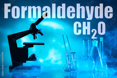 A scientist conducts an experiment in chemistry Canvas Print