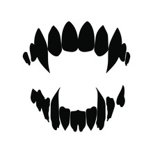 Vampire Teeth Vector Isolated ...