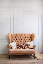 Large Beige Sofa With Soft Toy...