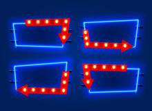 Neon Frame Arrow Set Collectio...