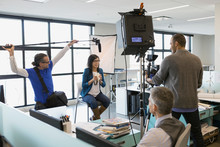 Business People Filming In-hou...