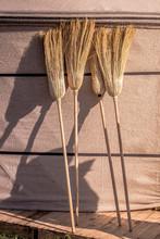 Broom Made Of Broom Sorghum Or...
