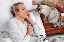 Cat Waking Up Its  Owner Senio...