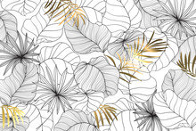 Background For Social Media Decorate With Summer Leaf