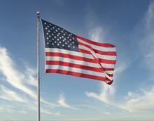 American Flag Flies High On A ...