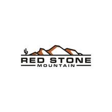 Mountain With Cactus, Like Camelback Mountain Shape Logo Design