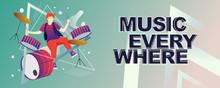 Musician With Music Instrumen...