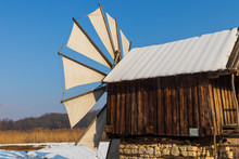 Traditional Wooden Windmill Fr...