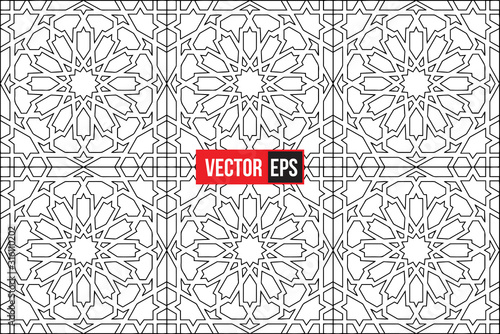 Stampa su Tela islamic abstract pattern