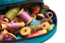 Vintage Thread Spools Isolated...