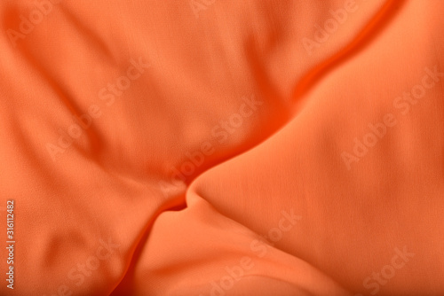 Fototapeta Thin chiffon fabric as an abstract background