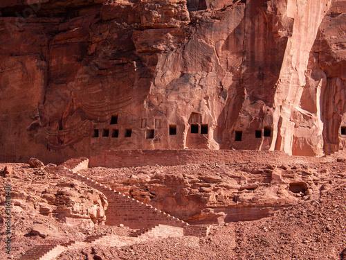 Photo The Lion Tombs of Dedan at ancient oasis of Al Ula, Saudi Arabia