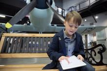 Boy Drawing On Digital Tablet ...