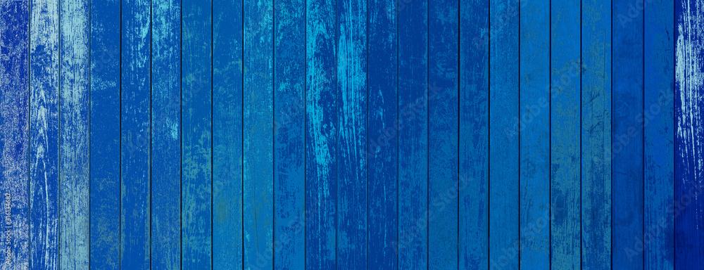 Fototapeta blue wooden background