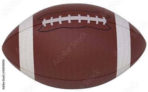 American football on white background Slika na platnu