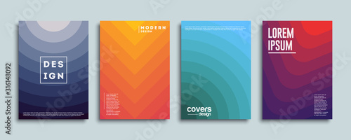 Photo Abstract vector covers design template