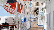 Walk Deck On A Cruise Ship. Sa...