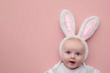 Cute Little Baby Wearing Easte...