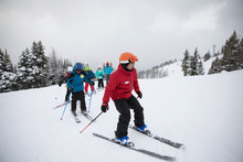 Instructor Leading Ski Lesson ...