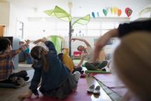 Preschool Teacher And Students...