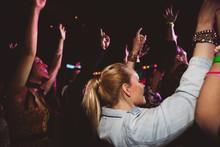 Crowd Dancing And Cheering At ...