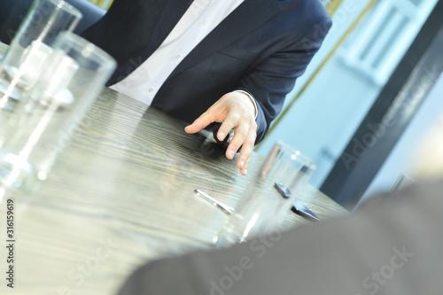 körpersprache im management Fototapet