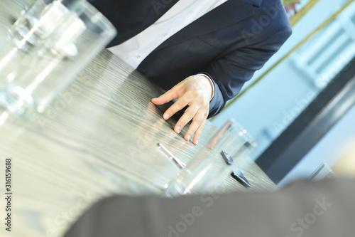 körpersprache im management Tablou Canvas