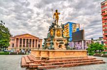 The Neptune Fountain In Batumi...