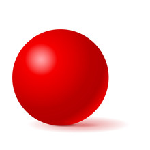 Red Sphere. 3d Geometric Shape