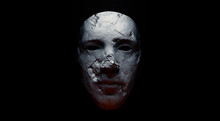 Concept Of Mistic Mask Or Face...