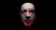 Concept Of Mistic Mask Or Face. 3d Illustration