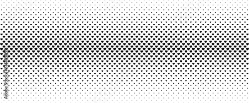 Fotomural Halftone background from small black hearts.