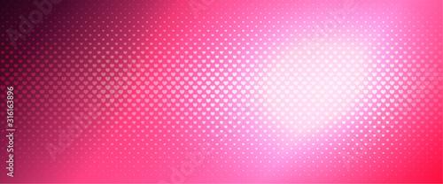 Obraz na plátně Luxurious pink halftone background from small hearts