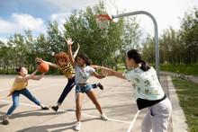 Teenage Girl Friends Playing B...