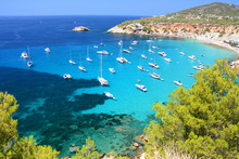 Cala D'Hort Bay With Beach And...