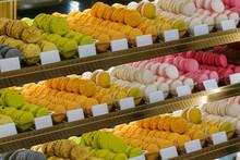 Macarons In Shop Window, Frenc...