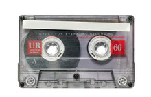 Transparent Audio Cassette Tape Isolated On White