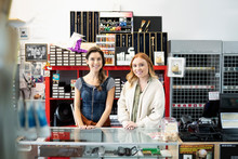 Portrait Confident Female Business Owners In Art Supply Shop