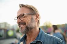Smiling Senior Man In Eyeglass...