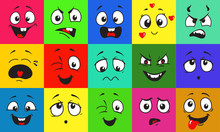 Funny Cartoon Faces With Emoti...